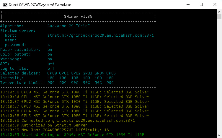GMiner v1.52 Equihash/ CuckooCycle (AMD / Nvidia GPUs miner)