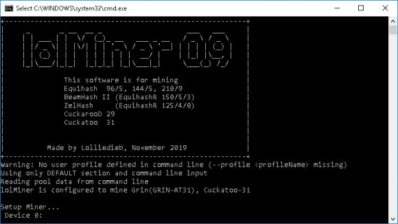 lolMiner v0.9.1 - GRIN-AT31 optimization for AMD cards