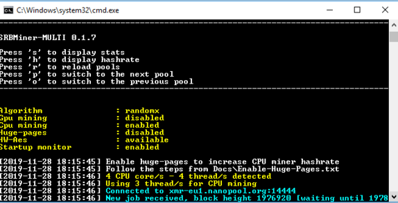 SRBMiner-MULTI 0.2.0 - miner for CPU and GPUs AMD / Nvidia (Download and Configure)