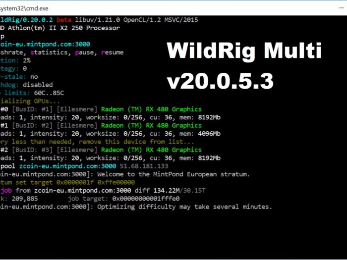 WildRig Multi v0.20.5.3: Download AMD GPU miner for Windows 7/10