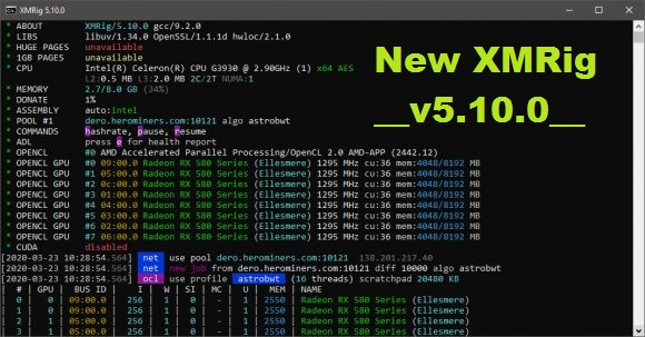 XMRig v5.10.0: Download AMD GPU Miner With Support AstroBWT mining