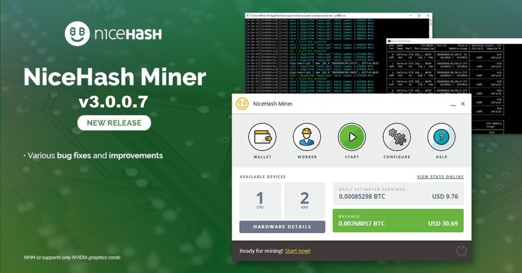 NiceHash Miner v3.0.0.7: Download NHM for Windows 7/10 (x32/x64-bit)
