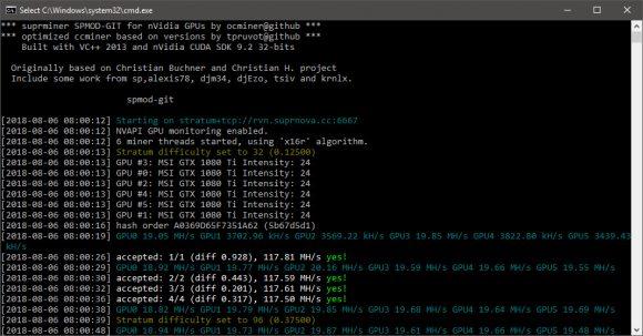 Spmod-git #5: New Faster miner Raven x16r/x16s (fork of ccminer)