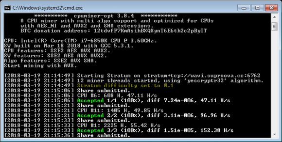 CPUMINER-OPT v3.8.4: Download Fast CPU Miner for Windows